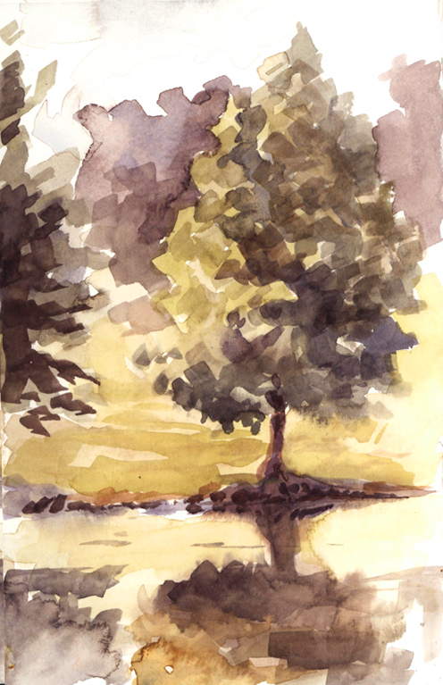 watercolor_pondtree